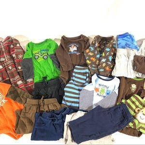 Lot of 9 mo baby boy clothes long sleeves & pants